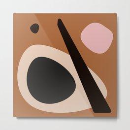 abstract brown Metal Print
