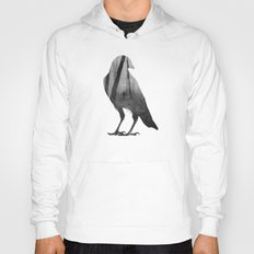 Crow (black & white version) Hoody