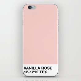 vanilla rose iPhone Skin