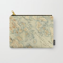 Vintage Map of Lake Winnipesaukee (1907) Carry-All Pouch