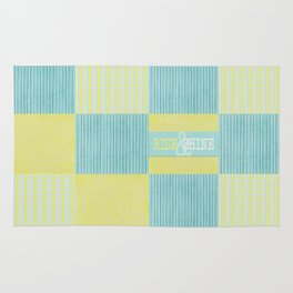 pale blue and yellow  Rug