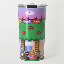 Super Mario World Happy Ending Travel Mug