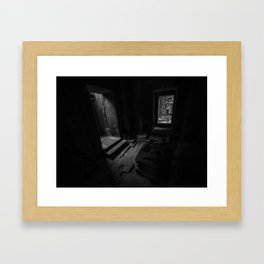 Pathways BW Framed Art Print