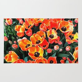 Bright Red Tulips of Istanbul Rug