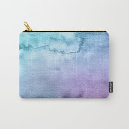 Watercolor Mystery - Blue and Purple Carry-All Pouch
