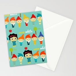 Snow White and the 7 dwarfs Stationery Cards