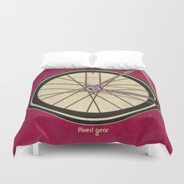 Single Speed Bicycle Duvet Cover