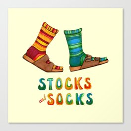 Stocks And Socks with Groovy Lettering Canvas Print