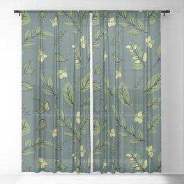 Flower Design Series 8 Sheer Curtain
