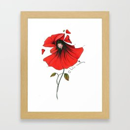 Fée Coquelicot Framed Art Print
