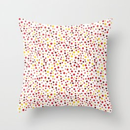 Bubble Rocks-Sunshine: Part of Organic Medallion collection Throw Pillow