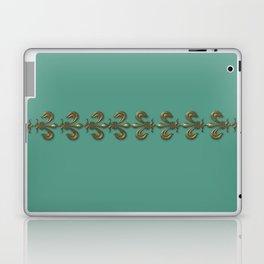 Turquoise Fleur-de-lis  Laptop & iPad Skin