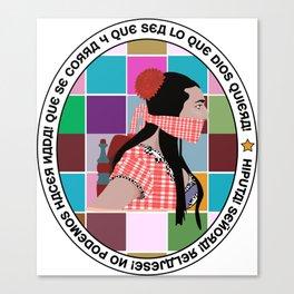 Rossy Amordazada Canvas Print