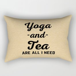 Yoga And Tea Funny Quote Rectangular Pillow