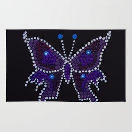 Indigo Butterfly Dinky Dot Mandala Rug