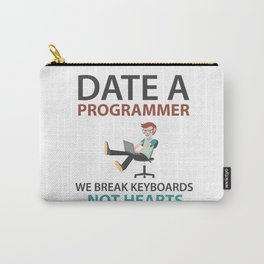 Date A Programmer Carry-All Pouch