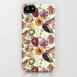 Food Pattern iPhone Case