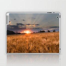 Sunset in grainfield Laptop & iPad Skin