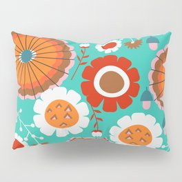 Floral amusement park Pillow Sham