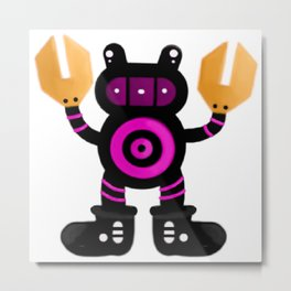 Old Toronto Robot Raccoon Metal Print