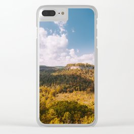 View from Chimney Top Rock - Red River Gorge, Kentucky Clear iPhone Case