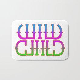 """""""Wild Child"""" Mirror image Bath Mat"""