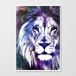 Purple Lion Canvas Print