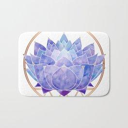 Violet Zen Lotus Bath Mat