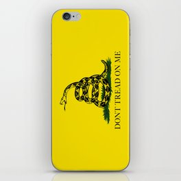 "Gadsden ""Don't Tread On Me"" Flag, High Quality image iPhone Skin"