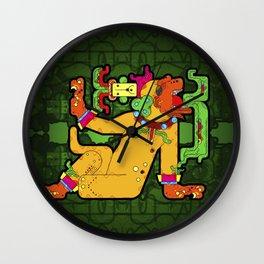 Yaxchilan - Maya Tiger Wall Clock
