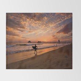 Surf City Sunsets   9/10/15   Huntington Beach California  Throw Blanket