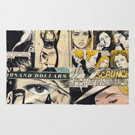 Italian Comics Vintage Pop art Collage Rug