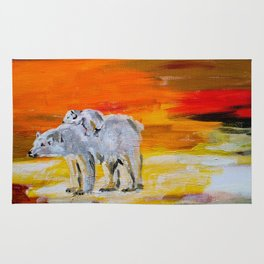 Polar Bears Surviving Rug