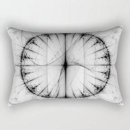 Black Circles Rectangular Pillow