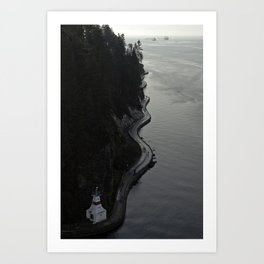 Stanley Park Sea Wall Art Print