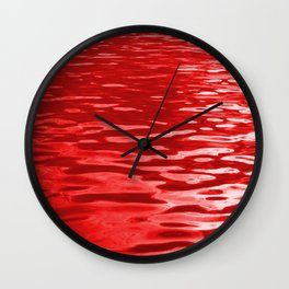 Cranberry Waters Wall Clock