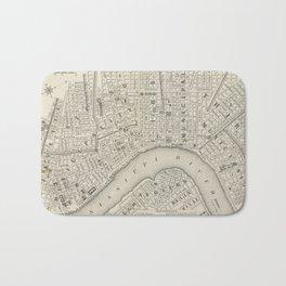 Vintage Map of New Orleans LA (1866) Bath Mat