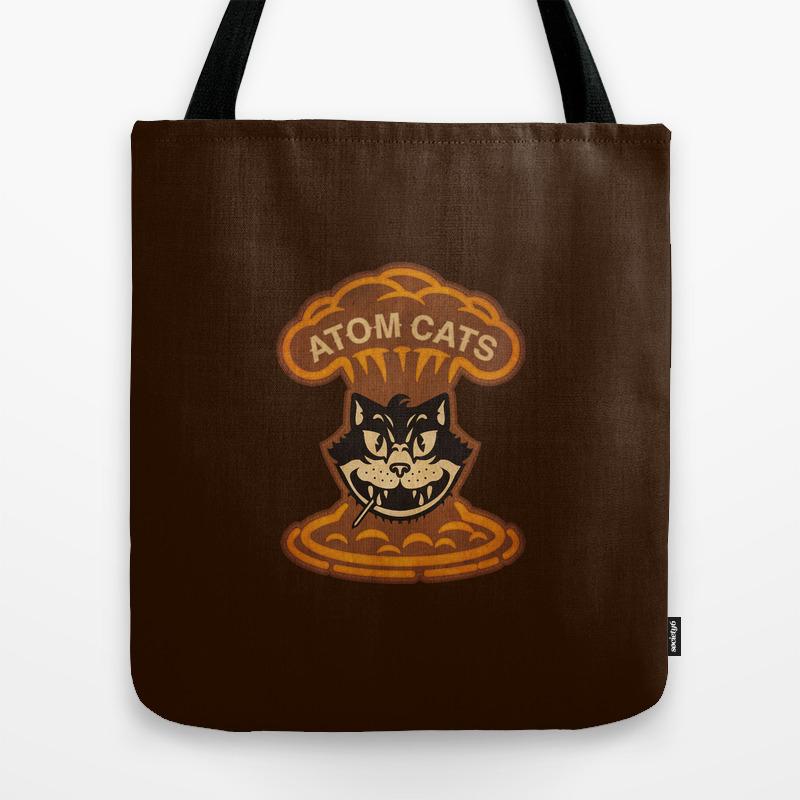 Atom Cats Tote Bag by Woahjonny TBG6176161
