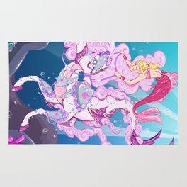 Mermaid Ride  Rug