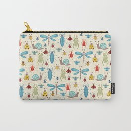 Little Bugs & Mini Beasts on Cream Carry-All Pouch