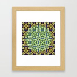 Golden galaxy Framed Art Print