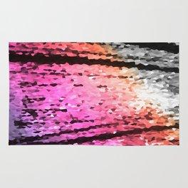 Lavender Pink Peach Crystal Texture Rug