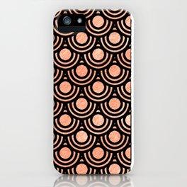 Mermaid Scales in Metallic Copper Bronze Gold iPhone Case