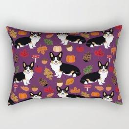 Tricolored Corgi autumn woodland pillow print iphone case phone case corgis cute design Rectangular Pillow