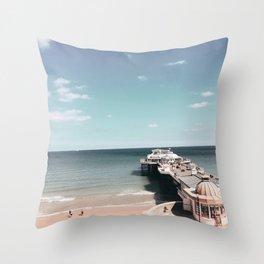 Cromer Pier Throw Pillow