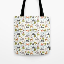 Funny Forest Map Tote Bag