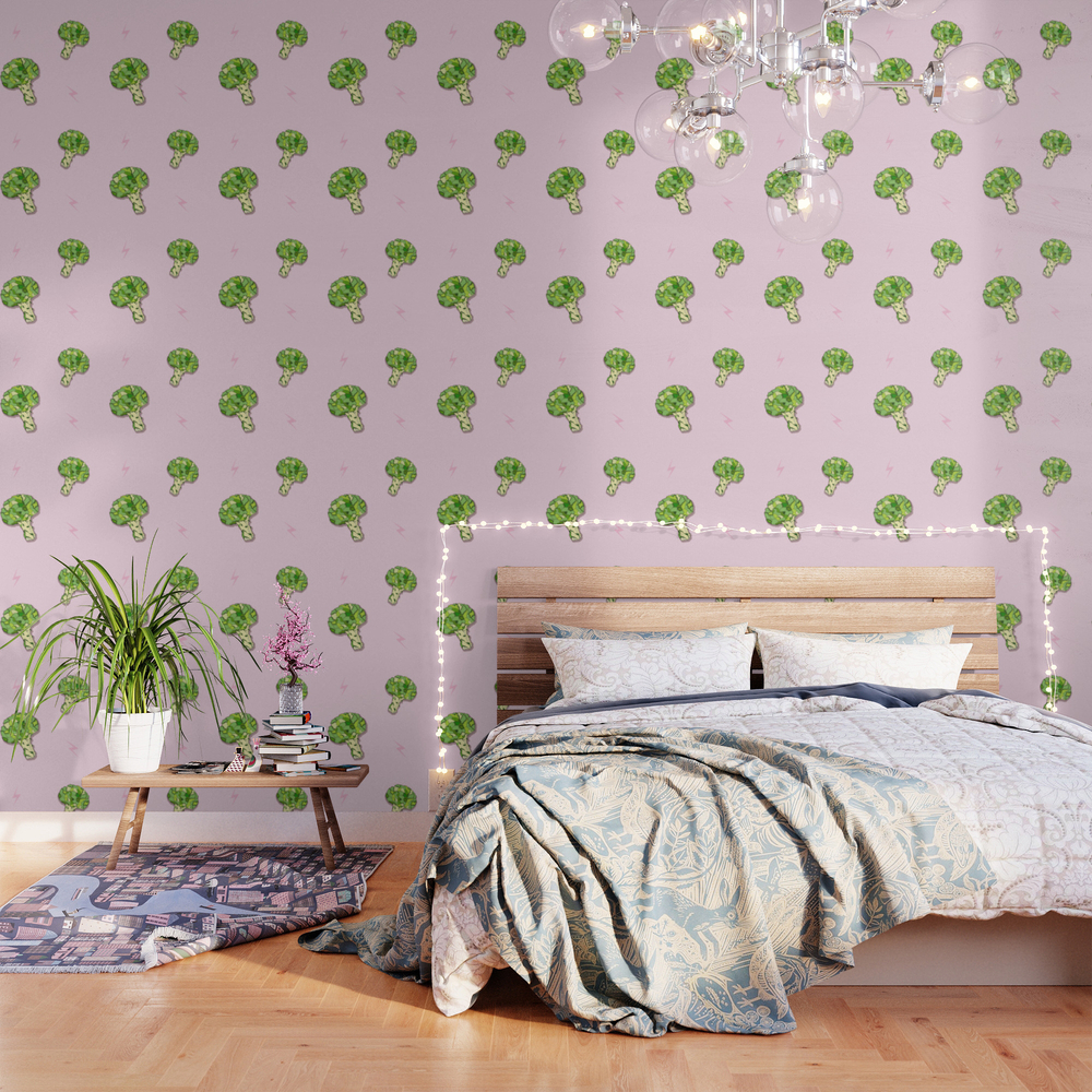 Totally Broccoli Wallpaper by Minniemorrisart WPP9136035