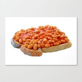 Beans on Toast Canvas Print