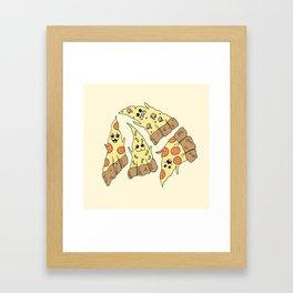 Ghost Pizzas Framed Art Print
