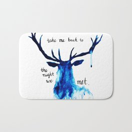 "Watercolour Deer Lord Huron lyrics ""take me back to the night we met"" Bath Mat"